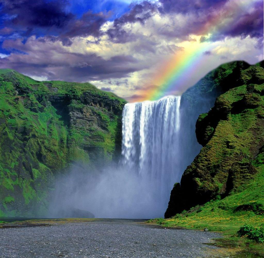 waterfall-with-rainbow