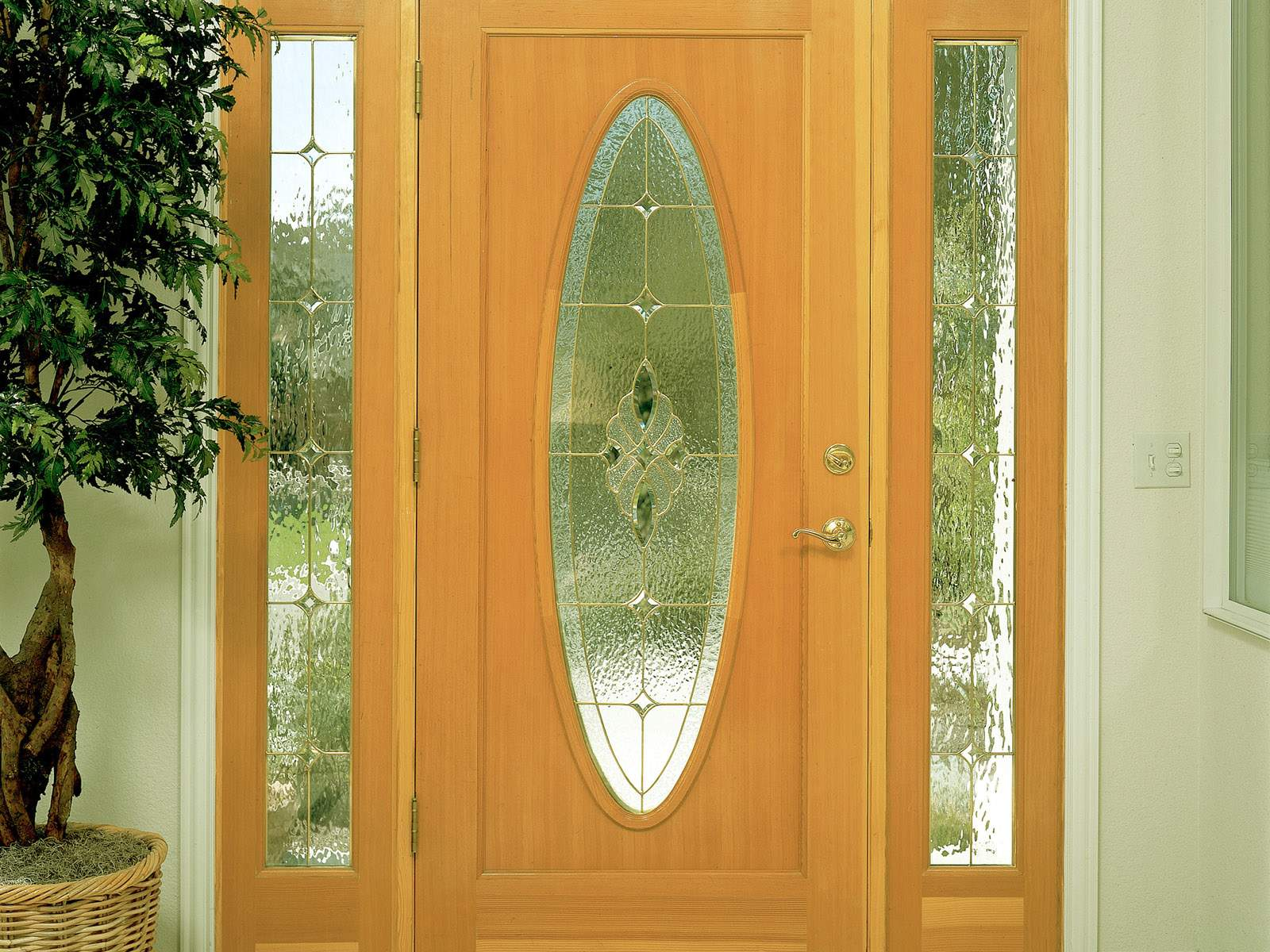 What to consider before having a new front door installed for New wooden front door