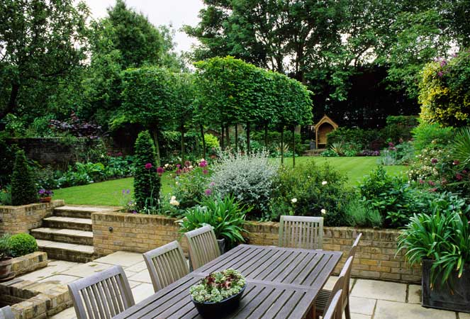 How to make small backyards look bigger for Beautiful small home gardens