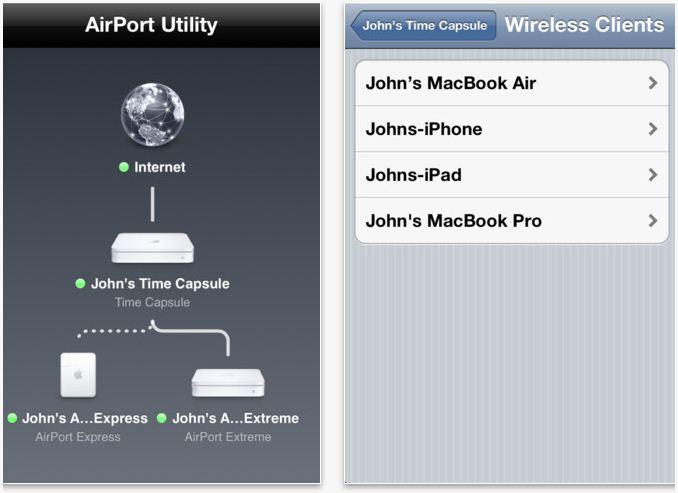 AirPort Utility app