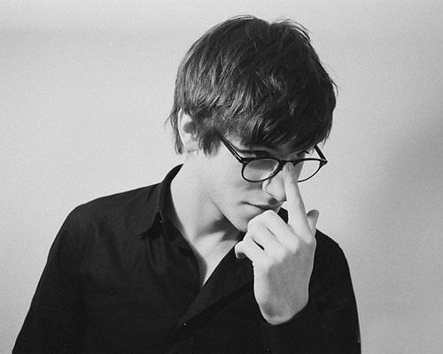 boy wearing nerdy glasses