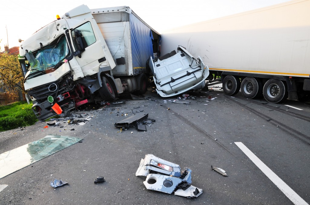 car and lorry accident