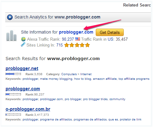 problogger saerch