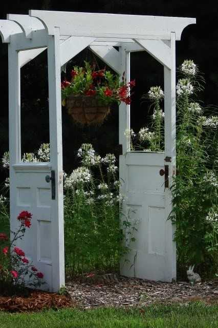 arbour made from old doors