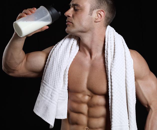 man-protein-shake