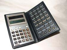 Casio solar powered calculator