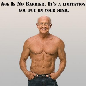 Old Man with Muscle