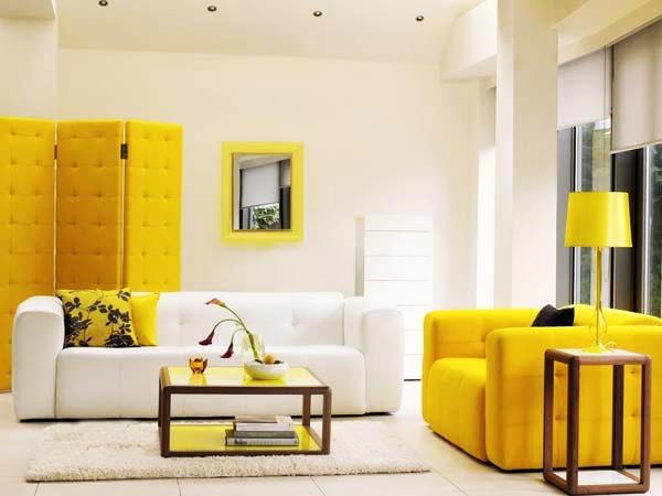 yellow white room