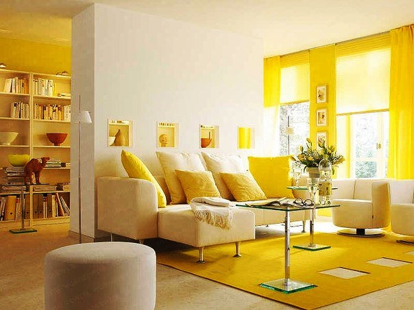 Living Room in Yellow