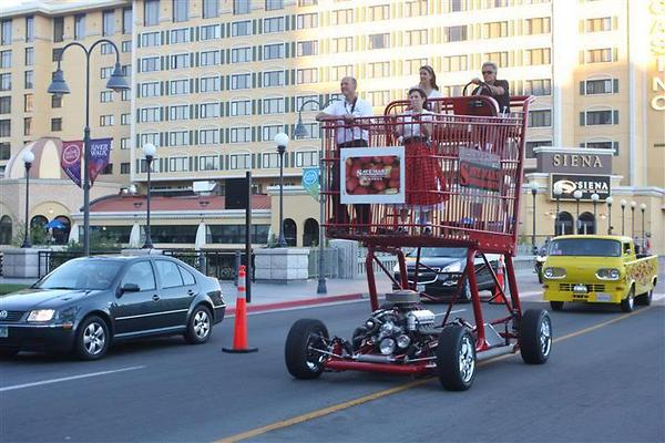 shopping cart with engine