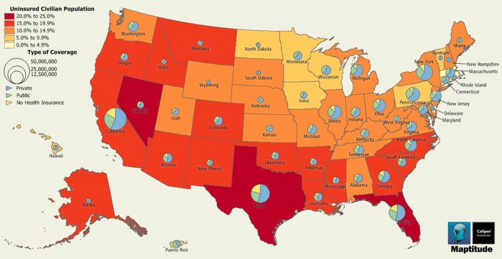 Uninsured Population by State