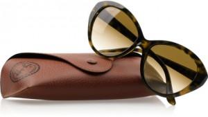 Le Specs Metallic Cat-Eye Acetate Mirrored Sunglasses