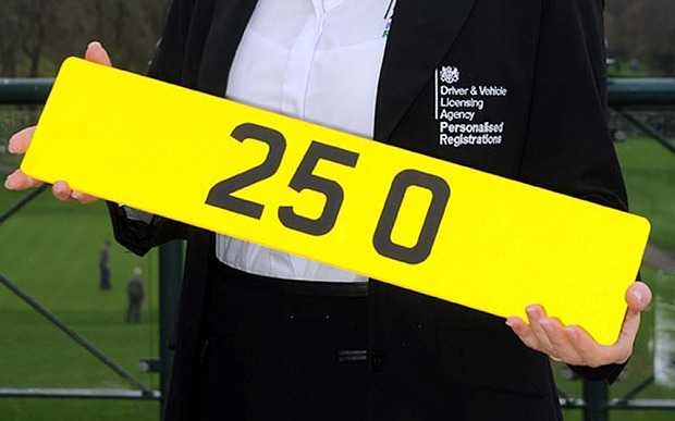 25 O plate number