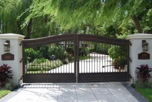 Tremendous-Paxton-Gate-decorating-ideas-for-Landscape-Mediterranean-design-ideas-with-Tremendous-column-concrete-driveway