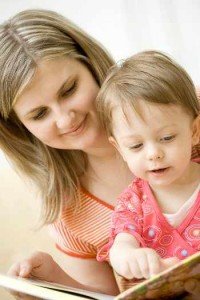 au pair teaching child