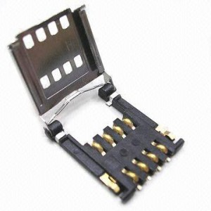 Hinged SIM Card Connector