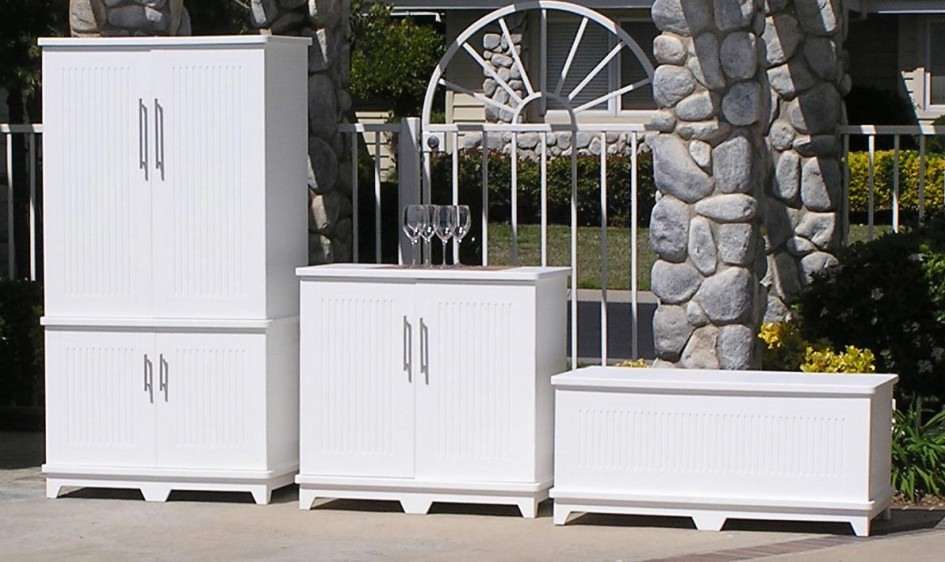 Outdoor Storage Cabinet Waterproof Wood 9
