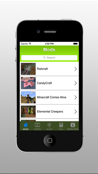 mods for minecraft iphone app