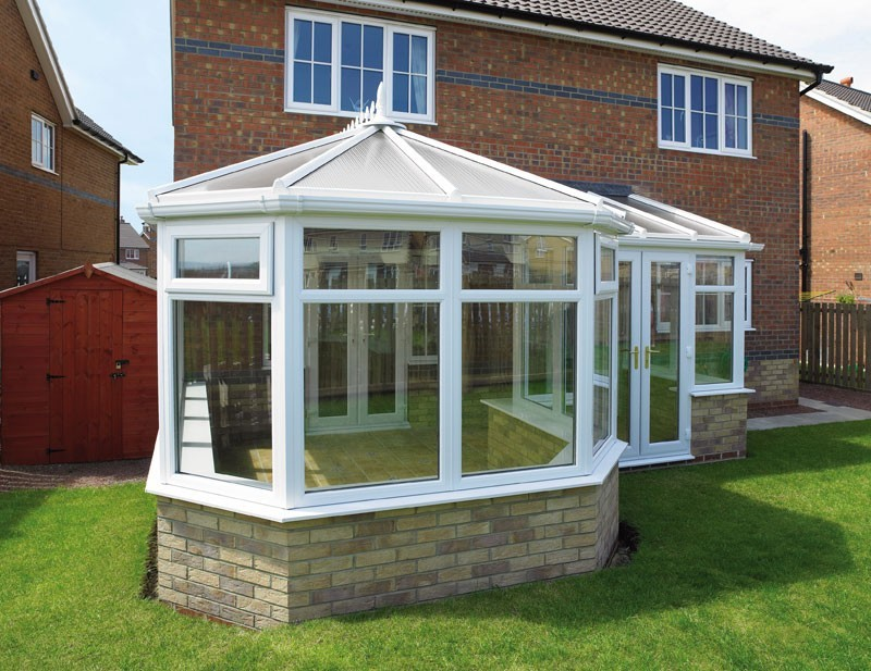 P-Shaped DIY Conservatory