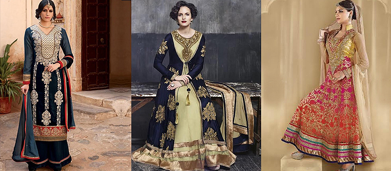 heavy embroidry suits-Kaseeshonline