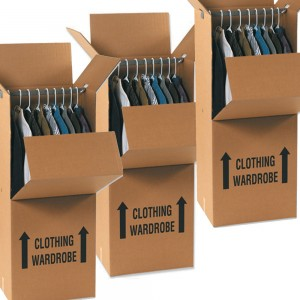 how to pack a wardrobe box