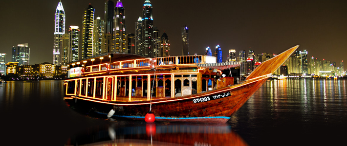 Dhow Cruise Dinner An Exhilarating Sightseeing Experience In Dubai Marina Tour