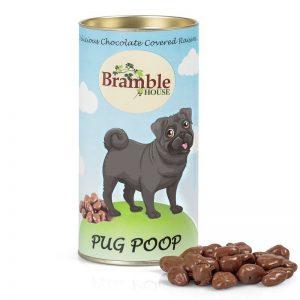Can of Pug Poo chocolates