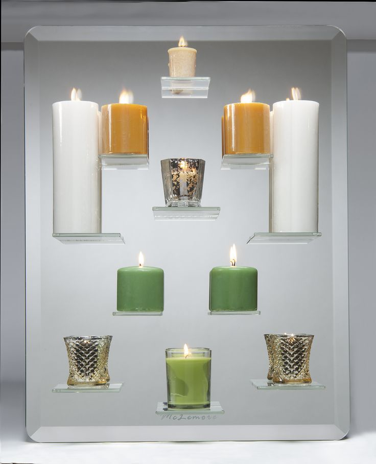 Place Candles on the Shelves