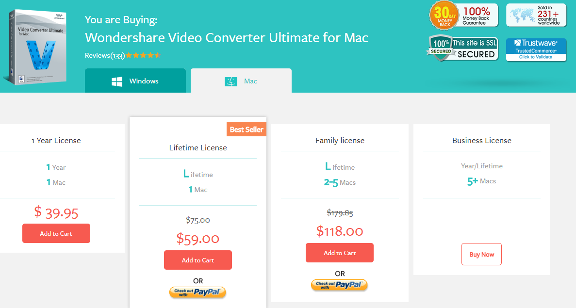 pricing mac