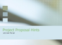 Components of a Project Proposal