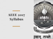 AEEE 2017 Syllabus Details Available – India