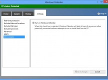 How to turn off Defender in Windows 8