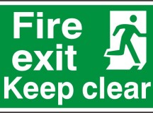 OSHA Compliant Fire Exit Signs: Which Material to Choose?