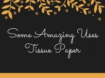 Some Amazing Uses of Coloured Tissue Paper
