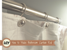 How to Make Your Own Bathroom Curtain Rod?