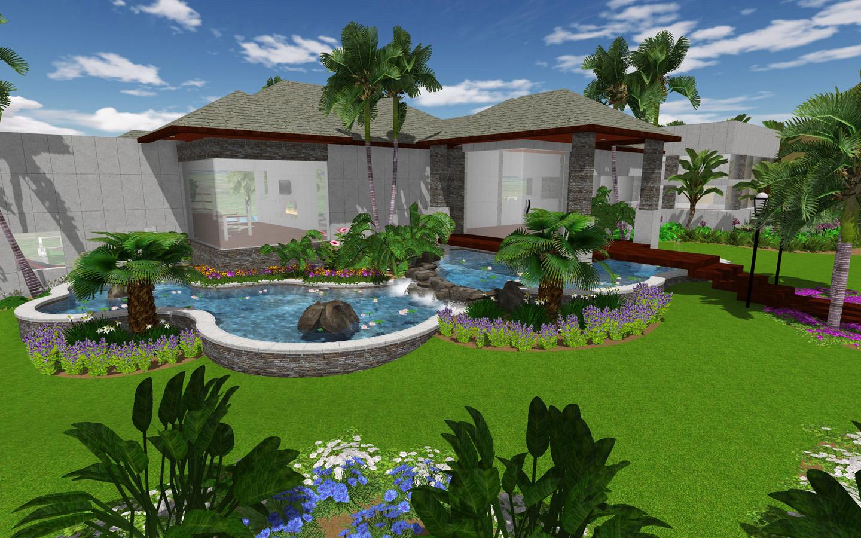 increasing use of 3d architecture in landscape designing. Black Bedroom Furniture Sets. Home Design Ideas