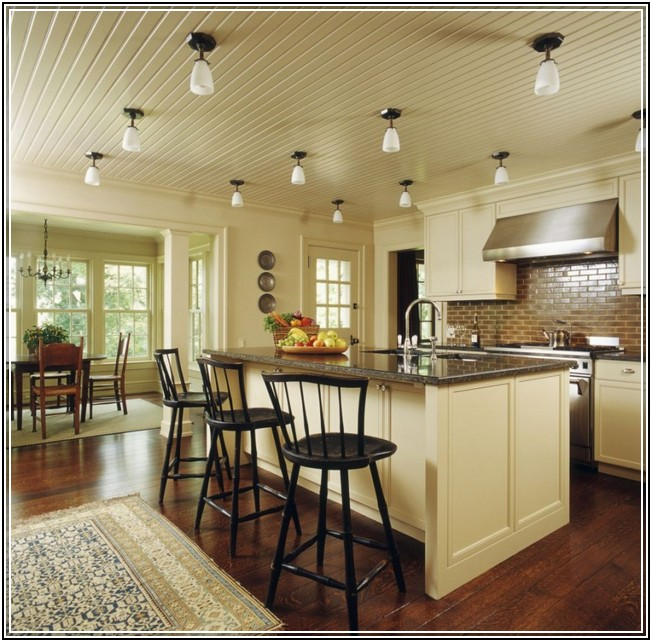 ideas for vaulted ceiling lighting - How to Choose the Right Ceiling Lighting for Your Kitchen