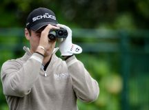 SAN FRANCISCO, CA - JUNE 13:  Martin Kaymer of Germany uses a rangefinder during a practice round prior to the start of the 112th U.S. Open at The Olympic Club on June 13, 2012 in San Francisco, California.  (Photo by Stuart Franklin/Getty Images)