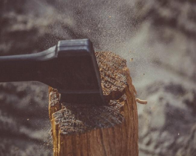 Splitting firewood1