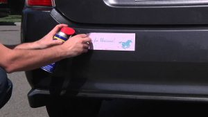 remove a sticker from your car