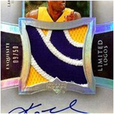 Exquisite Collection Limited Logos Kobe Bryant Auto Patch