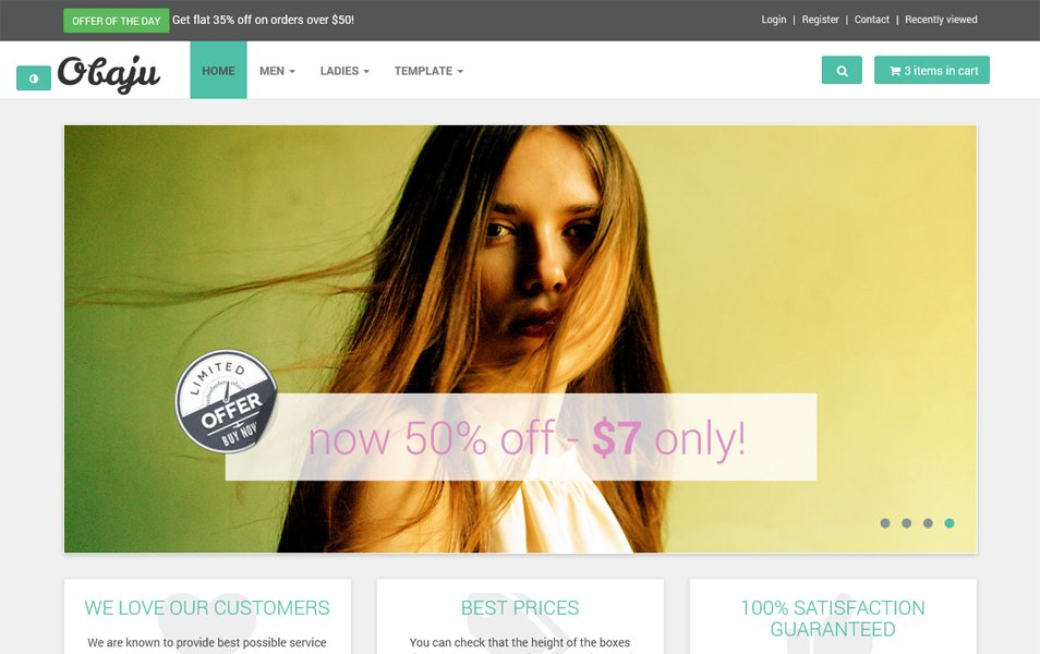 E-commerce HTML template