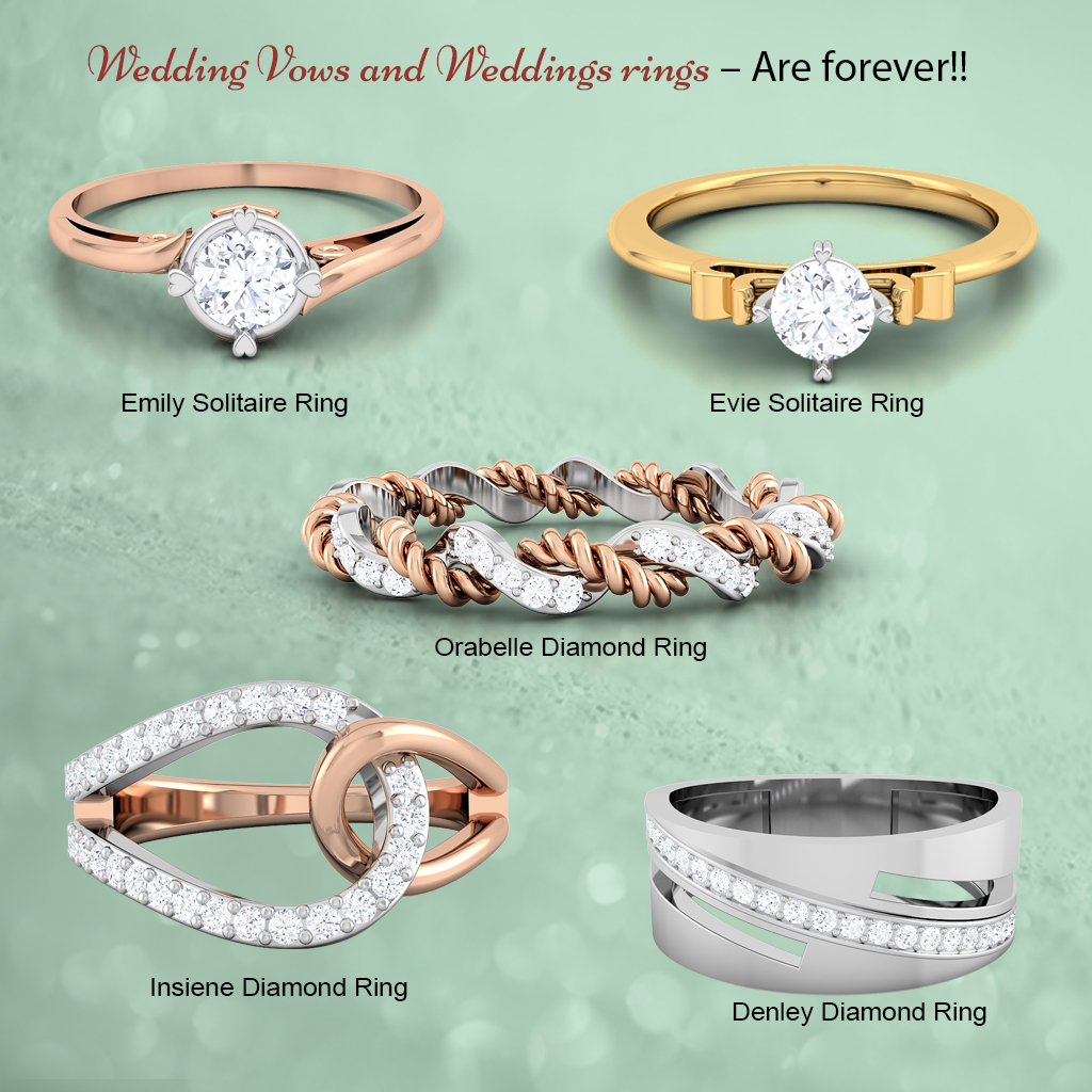 Diamond and Solitaire Ring