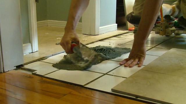 Tile Over Tile – Radiant Heated Bathroom Floor