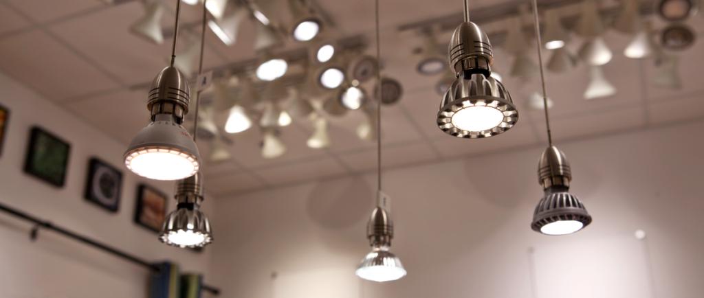lighting at retail store