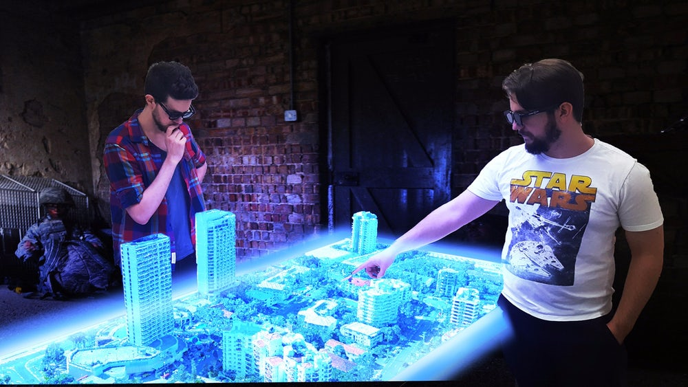 Euclideon's holographic table