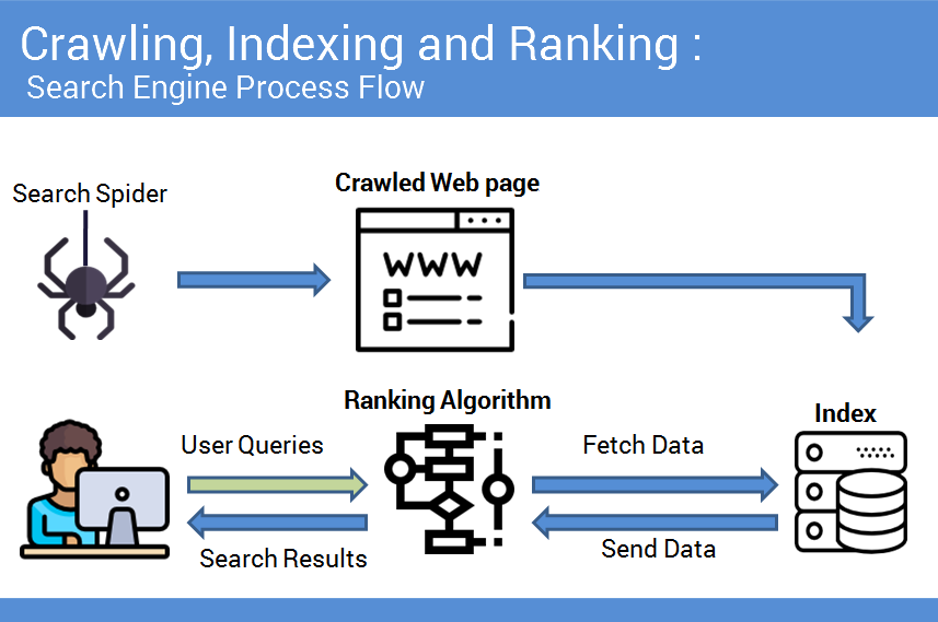 Search Engine Crawling, indexing and ranking