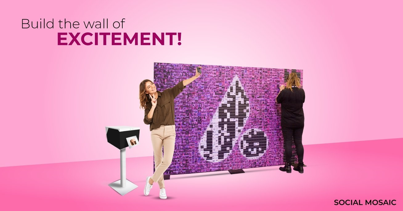 social photo mosaic wall