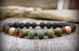 Numbers don't lie! Men love to wear semi-precious stone bracelets!